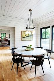 White Shiplap Dining Room