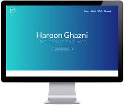 Haroon Ghazni Front End Web