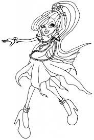 Monster High Dolls Coloring Pages Images