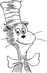 Dr Seuss Hat Coloring Page Cat In The Pages Free Printable