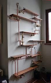 Making A Wooden Shelving Unit by Best 25 Pipe Bookshelf Ideas On Pinterest Diy Industrial