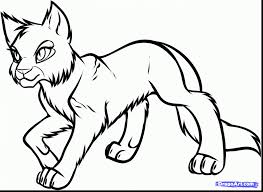 Excellent Warrior Cats Coloring Pages With Cat And For Toddlers