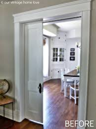 Pocket Doors And Porcelain Door Knobs