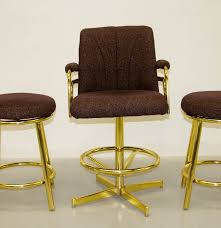 Two Chromcraft Bar Stools And A Captain39s Chair EBTH Round ...