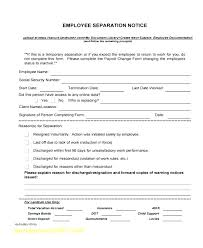 Employment Separation Notice Template Awesome Marriage Tn Templa