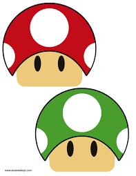 Super Mario Pumpkin Stencil Printable mushrooms from game mario super marion bros inspired