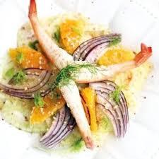 cuisine recettes journal des femmes salade de crevettes fenouil et orange 70 recettes de salades