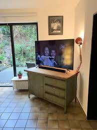 werkbank kommode vintage stahlkorpus holzplatte wohnzimmer