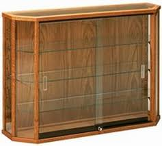 6 Sided Wood Wall Display Case