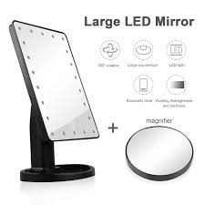22 LED Light Makeup Mirror Portable Vanity Lighted 10X