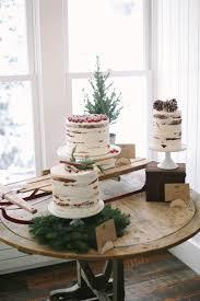 Winter Rustic Wedding Cake Cluster