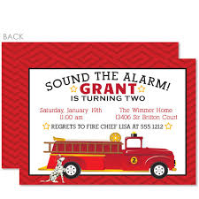 Trial Invite Fireman Awesome Fire Truck Party Invitations ...