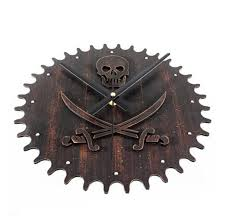 Pirates of the Caribbean wall clock for home decor silent skull