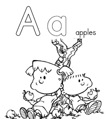 Alphabet Coloring Pages Printable Letter A
