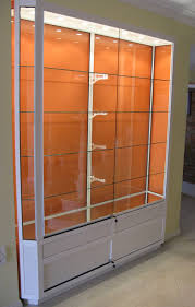 Interior Design Contemporary Wall Display Cabinet Feature Clear