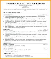 Classy Sample Resume For Warehouse Officer With Additional Resumes Supervisor