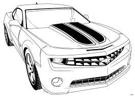 Transformer Bumblebee Car Coloring Pages