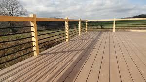 Horizontal Deck Railing Ideas by Home Decor Deck Railing Update Home Central