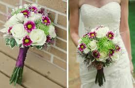 Rustic Wedding Outdoor Ceremony Bridal Bouquet Ivory Fuschia