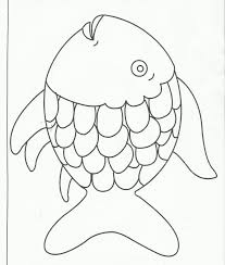 Rainbow Fish Coloring Page Printable Free Large Images