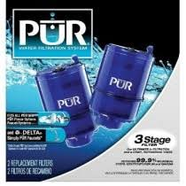 Pur Faucet Mount Replacement Water Filter by Drinking Water System Filters Aqua Pure Water Conditioning