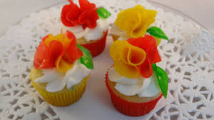 Cake Decoration Ideas With Gems by Decorating Cupcakes 125 Fruit Roll Up Flowers Youtube