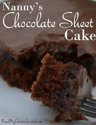 Nanny s Chocolate Sheet Cake Read My Chicken Scratch