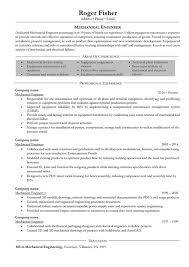 Resume Templates Mechanical Engineer Experienced Outstanding Diploma Engineering Format For Fresher Example