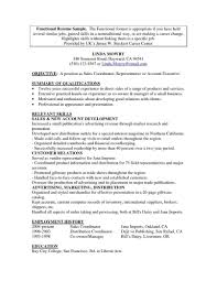 Template Functional Resume Examples Career Word For