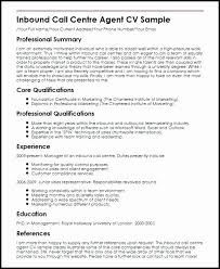 Sample Resume Inbound Call Center Best Sales