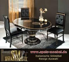 luxus möbel esszimmer wohnzimmer rossella schwarz gold