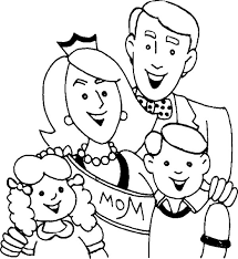 Royal Family Coloring Page