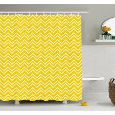 Chevron Print Shower Curtains by Ambesonne Chevron Zig Zag Pattern Modern Inspired Art Print Shower