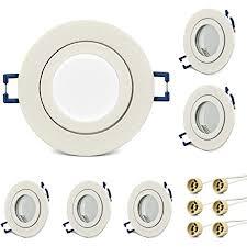 kyotech einbauleuchten bad rahmen 6er set runder wasserdichte einbauleuchten rahmen led strahler ip44 für feuchtraum badezimmer dusche aussen mit gu10