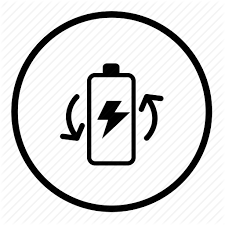Battery Eletric Energy Light Power Recycle Reuse Icon