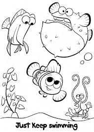 Nemo Friends Finding Coloring PagesDisney