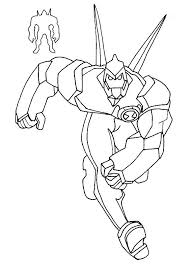 Ben 10 Diamond Head Coloring Pages
