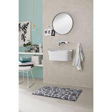 schöner wohnen badteppich mauritius 60 cm x 60 cm steine grau