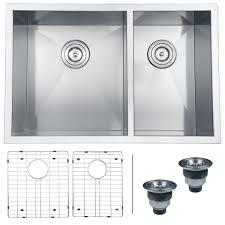 Stainless Steel Laundry Sink Undermount by Ruvati Rvh7200 Undermount 16 Gauge Kitchen Sink Double Bowl 29