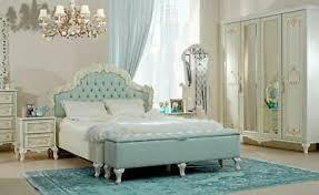 schlafzimmer louise mit 160 bett in beige türkis set 3