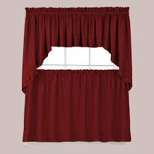 Waterfall Valance Curtain Set by Window Scarves U0026 Valances Window Treatments The Home Depot