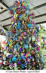 Bright Colored Christmas Tree