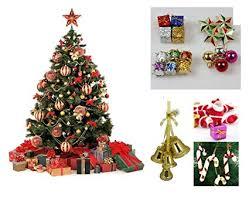 WebelKart 76 Pcs Christmas Tree Decorations Set Balls Bells Gifts Pine Trees