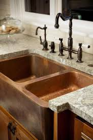 Copper Sink With Farmhouse Faucet And Rustic Iron Pulls For Cabinets Use Custom Concrete Countertops Though So Can Pick Color Style Go Granite