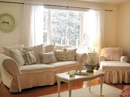 Shabby Chic Living Room With Brown Sofa Cottage Inspiration