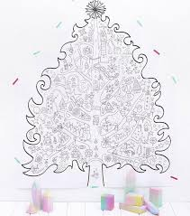 Giant Christmas Tree Coloring Page Wall Art