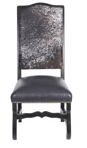 Modern Cowhide Bar Stool With Back | John Proffitt