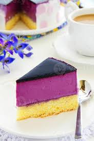 blaubeer joghurt kuchen stock foto