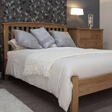 Oak Bedroom Furniture Natural Color of Bright Brown