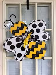 Mardi Gras Wooden Door Decorations by Front Door Decor Spring Door Hanger Bumble Bee Door Decor